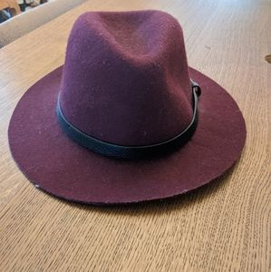 Topman burgundy wool felt hat